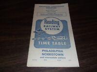 APRIL 1961 READING COMPANY PHILADELPHIA-NORRISTOWN, PA PUBLIC TIMETABLE