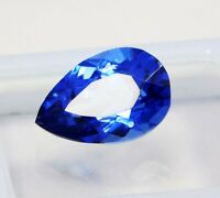 Natural CERTIFIED Pear 7 Ct Blue  Sapphire Loose Gemstone