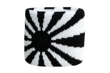 Schweißband Fahne Flagge Schwarz-Weiß 7x8cm Armband für Sport