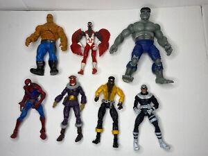 "Marvel Legends 6"" hulk falcon avengers Spiderman Zemo Toybiz figure Lot"