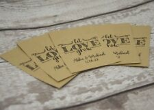 PERSONALISED WEDDING FAVOUR SEED PACKET - LET LOVE GROW