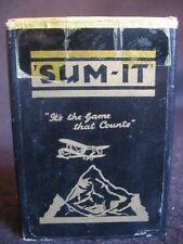 ART DECO 'SUM-IT' CARD GAME BOXED by SUM-IT CARD GAMES, LEEDS c.1930's EX