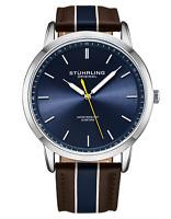 Stuhrling Men's 3992 Miyota Japan Quartz 44mm Classic Ultra Slim Leather Watch