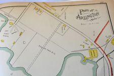 New listing Arlington,Ma 1889 Original Ward Map,Antique Street Map, Pleasant St., Medford