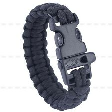 Outdoor Paracord 550lbs Bracelets Buckle Camping Emergency Survival Gear Tool