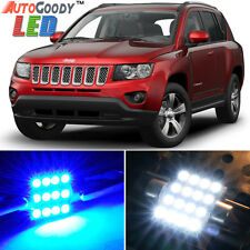 8 x Premium Blue LED Lights Interior Package for Jeep Compass 2007-2016 + Tool