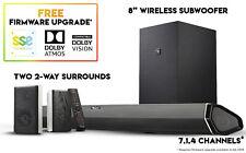 """Nakamichi Shockwafe Pro 7.1Ch Dolby Atmos + DTS:X SoundBar w 8"""" Wireless Sub"""