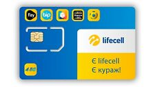 "Phone Sim Card Lifecell Ukraine activated, ""BiP Out"" technologies"