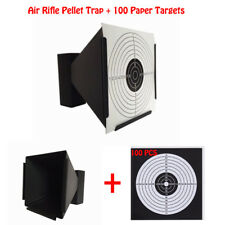 "Xhunter 5.5"" Shooting Target Holder Pellet Trap for Air Rifle w/ 100pk Targets"