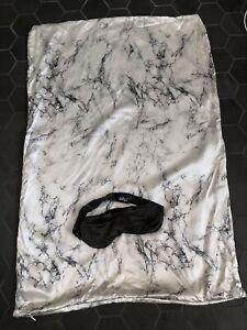 Slip Silk Marble Beauty Sleep 2 Pc Queen Pillowcase+ Sleep Mask Collection•