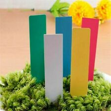 USA 100Pcs Plastic Plant Stakes Markers Plant Labels Nursery Tags 4