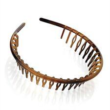 Wide Headband Aliceband Hair Band ha28121 comb shark style tortoise shell