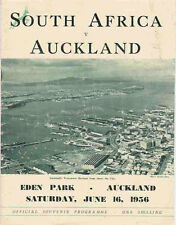 Auckland v South Africa 16 June 1956 Auckland RUGBY PROGRAMME