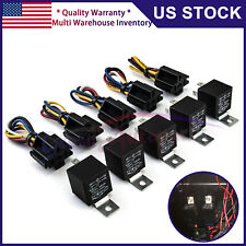 5 PCS 12V 30/40 Amp 5-Pin SPDT Automotive Relay with Wires & Harness Socket Set
