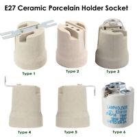 Vintage Retro Style Ceramic Porcelain E27 EDISON SCREW Heat Bulb Lamp Holder UK