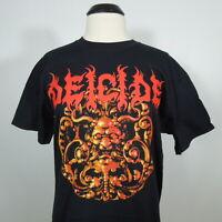 - DEICIDE Blaspherion Medallion Official T-Shirt Black Mens size L Gildan (NWOT)