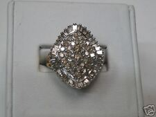 Diamond Cluster Ring Yellow Gold                  (845)