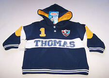 Thomas The Tank Boys Navy Blue Yellow Printed Warm Hoodie Jumper Size 1 New