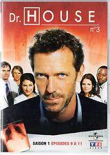 Dr HOUSE - Intégrale kiosque TF1 Video - Saison 1 - dvd 3 - Episodes 9 à 11