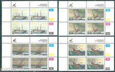 Ciskei Shipwrecks Scott#221/24 Plate Blocks Of Four Mint Nh