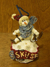 "Boyds Resin Ornaments #25653 Larrs.Ski, Ski, Ski, 4"" Nib From Retail Store"