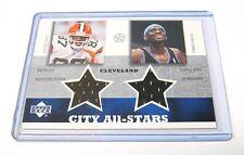 2003 UD Superstars City All Stars Andre Davis/Darius Miles Jersey Card CLEVELAND