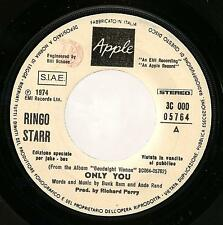 Ringo Starr Only You Italy Juke Box PROMO 45  With Out Picture Sleeve