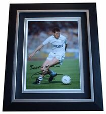 Chris Waddle SIGNED 10x8 FRAMED Photo Autograph Display Tottenham Hotspur COA