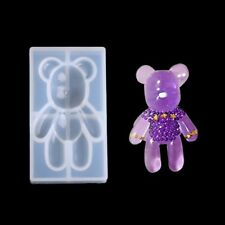 Transparent Bear Shape Silicone Pendant Mould Resin Jewelry Making Fondant Tool