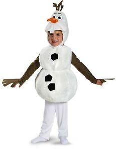 OLAF Disney Frozen Child Deluxe Plush Snowman Costume | Disguise 84654