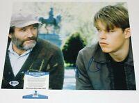ACTOR MATT DAMON SIGNED 'GOOD WILL HUNTING' 11x14 MOVIE PHOTO BECKETT COA BAS