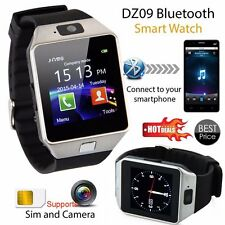 DZ09 Bluetooth Smart Wrist Watch SIM GSM Phone Mate For Android iOS iPhone Black