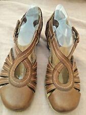 Womens SOFTSPOTS 'Sally' Mocha Brown Leather Pumps Shoes Sandals  SIZE 6 M EUC