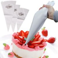 3 Sizes Reusable Cotton Icing Piping Pastry Bag Cake Cream Decorating Bags Uxym