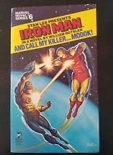 Marvel Novel Series #6 And Call My Killer...Modok! Iron Man first printing 1979