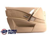 *BMW 5 Series E60 E61 Front Left N/S Door Card Trim Panel Beige Leather