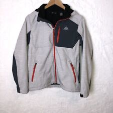 Snozu Boys Size L Lined Hooded Full Zip Jacket Zipper Pockets Inside Pockets