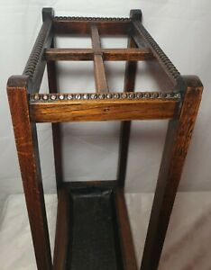Small Vintage Stick Stand - 1930's - 50's Style - 4 section / Drip Tray -