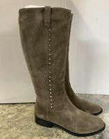 Marc Fisher Medium Calf Leather Tall Shaft Boots. Secrit. Taupe Womens Sz 9.5 M