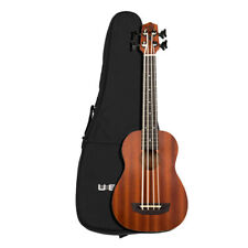 Kala Wanderer  U-Bass Satin Mahogany Acoustic Electric UBASS-WNDR-FS w/ Gig Bag