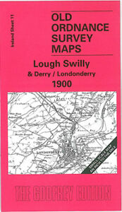 Old Ordnance Survey Map Lough Swilly & Derry 1900 - Ireland Sheet 11