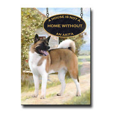 Akita A House Is Not A Home Fridge Magnet Dog