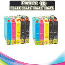 10 CARTUCHOS DE TINTA COMPATIBLE NON OEM EPSON STYLUS DX4400 DX5000 T0711
