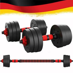 Lang- Hantelset Kurzhantel Hantel Set Hantelscheiben 20 kg Muskeltraining
