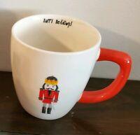 NEW RAE DUNN by MAGENTA Christmas Red Nutcracker Happy Holidays Mug Home Decor