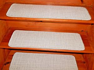 "13 = STEP  9"" X 30"" + Landing 18"" x 30""  Stair Treads WOVEN Wool Carpet ."