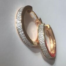Lab-Created/Cultured Diamond Hoop Costume Earrings