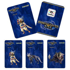 3pcs/set Monster Hunter Rise Series MHR amiibo Card NFC Cards for Switch 3-Pack