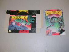 Drakkhen (Super NES SNES) Original Box and Manual, No Game a