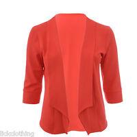 Womens New Blazer Jacket Coral Orange Size 16 18 20 22 24 26 28 Ladies *LICK*